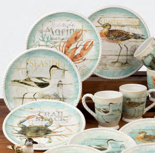 & Beach Cottage Dinnerware by Certified International - From The Patch
