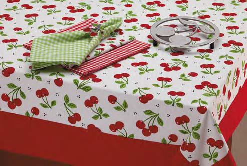 Cherry Print Dishtowel