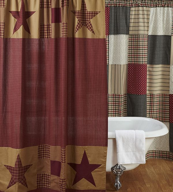 Country Primitive Shower Curtains From The Patch