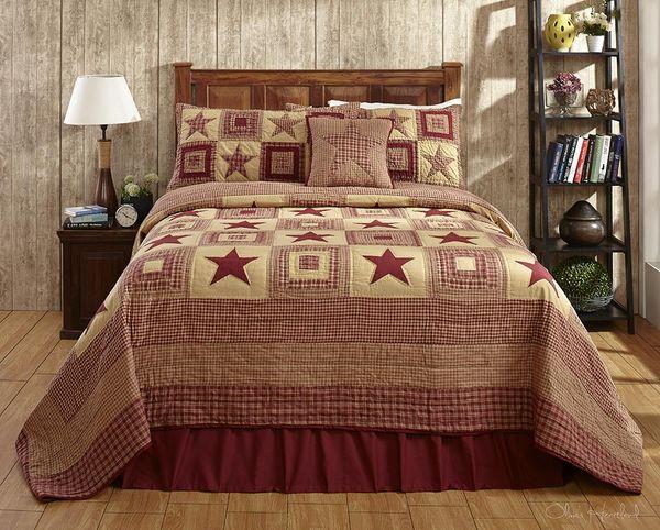Burgundy-star-quilt