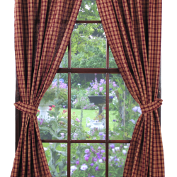 IHF-315 DR-plaid-curtains